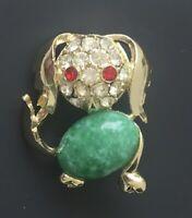 Adorable  vintage  dog  brooch Pin gold tone metal