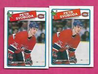 2 X 1988-89 OPC  # 256 CANADIENS PETR SVOBODA ROOKIE NRMT-MT  CARD (INV# C2334)