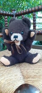 Hermann Germany Original Chocolate Brown Zotty Bear 10 inch Rare CUTE