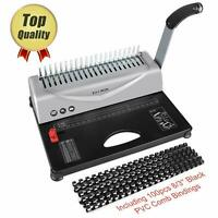 Binding Machine, 21-Hole, 450 Sheet, Paper Punch Binder with Starter Kit 100 PCS