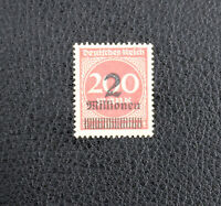 Weimar Republic German Empire 1923 Overprinted Stamp 2mill on 200mark - Unused