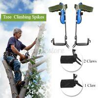 2 Gears Tree/Pole Climbing Spike Set Both Sides Safety Belt Lanyard Rope Tools U