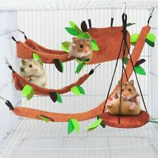 Pig Jungle Small Animal Hamster Hammock Cage Nest Accessories Hanging Warm Bed