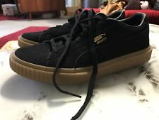 Puma Breaker Mens Black Gum Suede Trainers Size 42