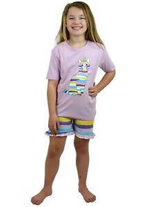 NEW Older Girls Kitty Print Short Pyjama Set 7 -13 years