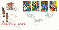 16 MAY 1989 TOYS AND GAMES ROYAL MAIL FIRST DAY COVER BUREAU SHS (x)