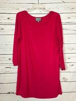 Stitch Fix SKIES ARE BLUE Pink Tunic Top Shirt Blouse Tee Women's Size M Medium