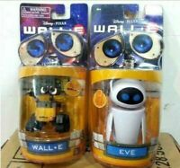 Disney Pixar Wall-E and Eee-Vah EVE Set of 2pcs Mini Robot Action Figure Toy New
