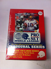 4 1991 Pro Set World League Football Cards Sealed Sets