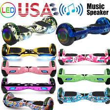 """6.5"""" Led Bluetooth Hoover board Self Balancing Board Electric Scooter Ul No Bag"""