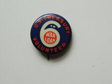 WWII U.S. Treasury War Loan Volunteer Pin