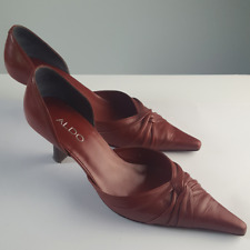 """ALDO High Heels 3"""" Pointed Toes Red Classics d'orsay Shoes Sz 38"""