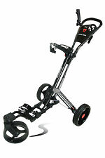 Founders Club Swerve 360 Swivel Qwik Fold 3 Wheel Golf Push Cart Trolley Black