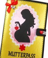 Mutterpasshülle Mutter MUKI Pass aus Filz mit Herz in gelb Impfpass Schutzhülle