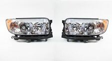 Right and Left Side Replacement Headlight PAIR For 2006-2008 Subaru Forester