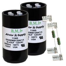 (2) PACK , 36-43 UF MFD HVAC Motor Start Capacitors 125 VAC VOLT with Resistors