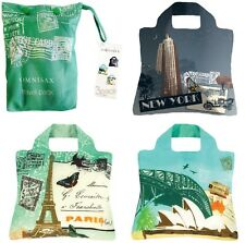 Envirosax Travel Pouch with 3 x LARGE Reusable Roll Up Shopping Bags; Gift Set