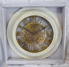 """Decorative White with Gold 12"""" Wall Clock"""