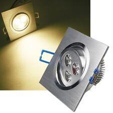 LED Decken-Einbauleuchte ECKIG 92x92mm warmweiß Einbaustrahler Downlight Leuchte