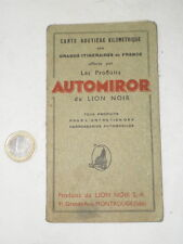 CARTE ROUTIERE PUB AUTOMIROR LION NOIR