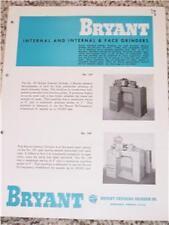 Vtg Bryant Chucking Grinder Co. Brochure-Internal 107