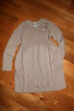 NWT Gymboree Winter Peacock Size 6 Shimmer Gold Rosette Sweater Dress