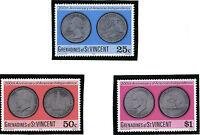 St VINCENT GRENADINES 1976 AMERICA INDEPENDENCE ALL 3 COMMEMORATIVE STAMPS MNH
