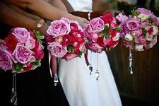 100 Florist Diamond Gem Cut Plastic Tip Corsage Pins Wedding Flowers Diamante