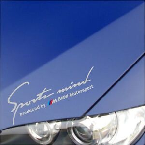 """SPORT MIND M Power BMW M3 M5 M6 E36 E39 E46 E61 E63 E90 DECAL STICKER SILVER 10"""""""