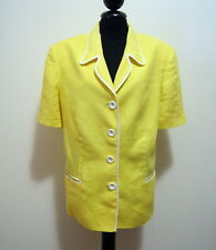 LUISA SPAGNOLI Women's Jacket Linen Flax Woman Jacket Sz. XL - 48