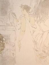 """Toulouse-Lautrec lithograph """"Devant la glace"""""""