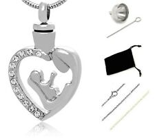 Memorial Cremation Jewelry,Pendant,Urn,Keepsake for Ashes,Cremation Urn Silver 3