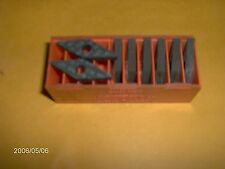 """VNMG 432 E48, GR 570 , """"CARBOLOY """" CARBIDE PROFILING INSERTS, 8 PIECES"""
