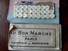 mercerie 5 boutons NACRE 1.4CM ancien☺buttons OLDS