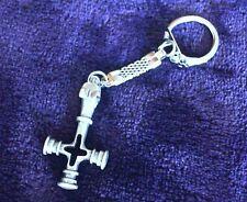 Fenrir Icelandic Wolf Cross Pewter Pendant Keychain! New Viking Thor's Hammer