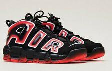 Nike Air More Uptempo'96 entrenadores UK9 Negro/Blanco/láser rojo carmesí CJ6129 001