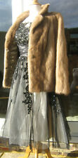 DELUXE SUPERB UK 10 BLONDE REAL  MINK FUR JACKET STROLLER COAT