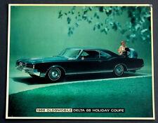 1966 OLDS DELTA 88 COUPE Vintage OLDSMOBILE Dealer Promo SHOWROOM POSTER Sign