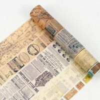DIY Vintage Map Ticket Washi Tape Paper Sticky Adhesive Sticker Paper Home Dec