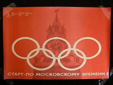 "Original 1980 Jeux Olympiques de Moscou Kremlin Poster """""
