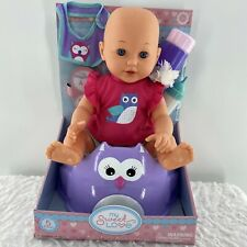 "My Sweet Love Baby Doll 14"" 5 Piece Bottle Bib Seat Easter Birthday Gift"