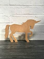 MDF UNICORN. FREE STANDING CRAFT BLANK.18MM THICK 200MM HIGH. WOODEN ORNAMENT