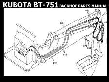 KUBOTA BT751 BACKHOE PARTS MANUALS for BT-751Back Hoe Tractor Service & Repair