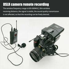Mini Lapel Mic Wireless Microphone System Video Recording Camera Receiver N1W8