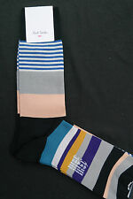 Paul Smith Mens Mid Length Socks Varied Stripe Multicolour F580 1-Size CottonMix
