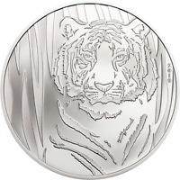 Silver Hidden Tiger 1/2 oz 999 Silbermünze Proof 2019 | Le Grand Mint-Shop