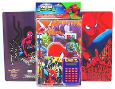 NEW Marvel Ultimate Spider-Man 7 Piece Fun Calculator Set and Notebook Pencils