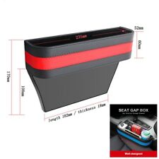 Front Seats Car Seat Gap Filler Storage Box Organizer Black&Red Universal 1X