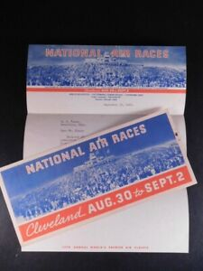 1935 Cleveland Air Race Envelope and Letter 680