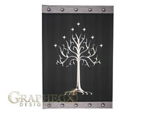 Gondor white tree lord of the rings inspired hardcover book journal notebook